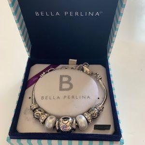 Bella Perlina Silver plated Charm Bracelet